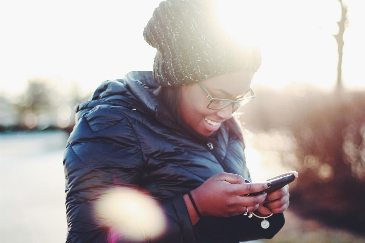 Make your friend smile with a quick text.