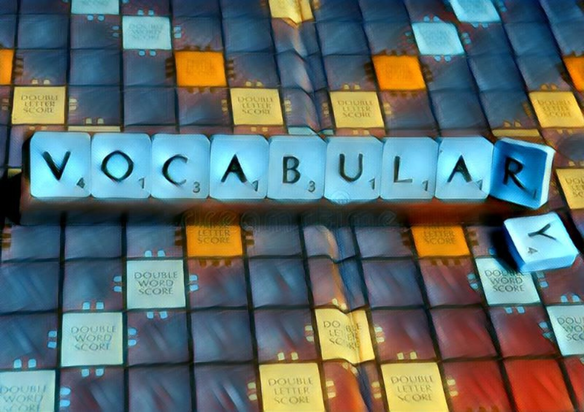 Vocabulary grows by reading books