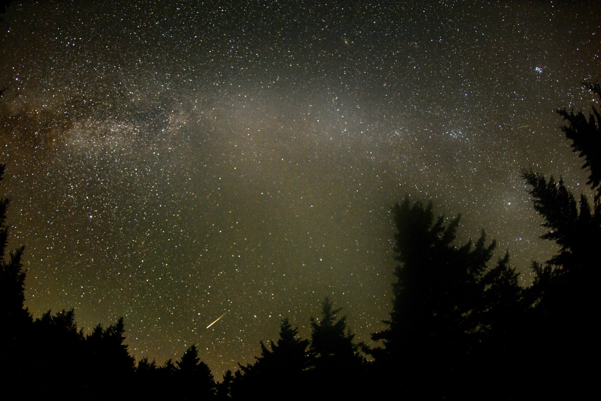 """During a meteor shower it is typical to see a """"shooting star"""" every four to ten minutes."""
