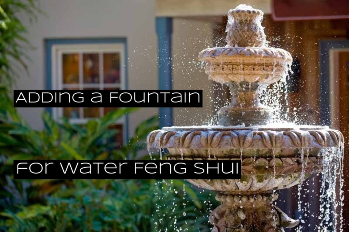 The most popular water feature in a feng shui garden is a fountain. You want your fountain to constantly be flowing with water. You want your fountain to be able to hold plenty of water.