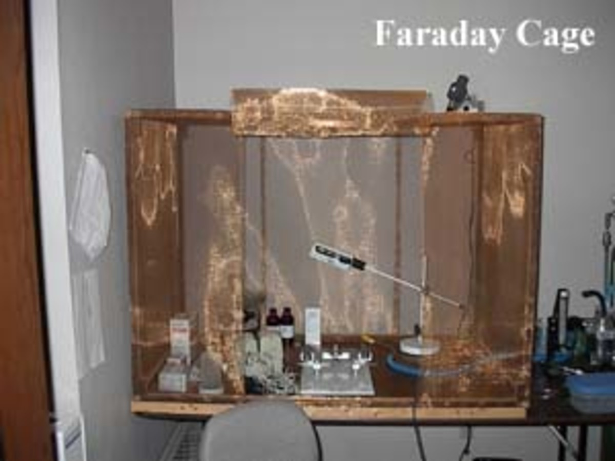 There are many ways to make a Faraday cage for a broad range of reasons. If you work with substantial amounts of electromotive and inductive electrical forces, some form of this is manditory.