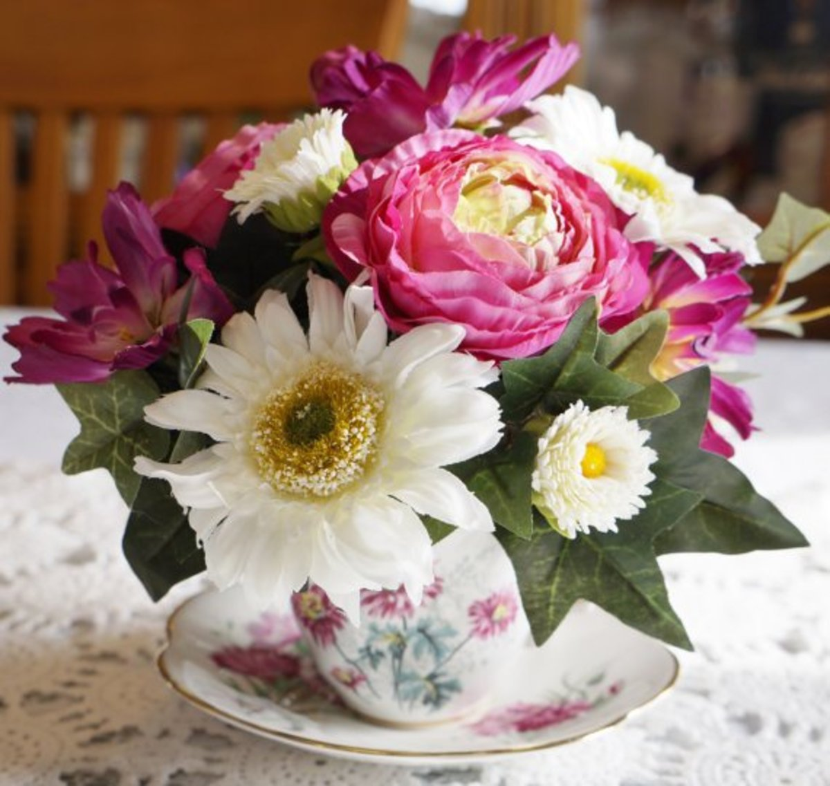Teacup Flower Arrangements