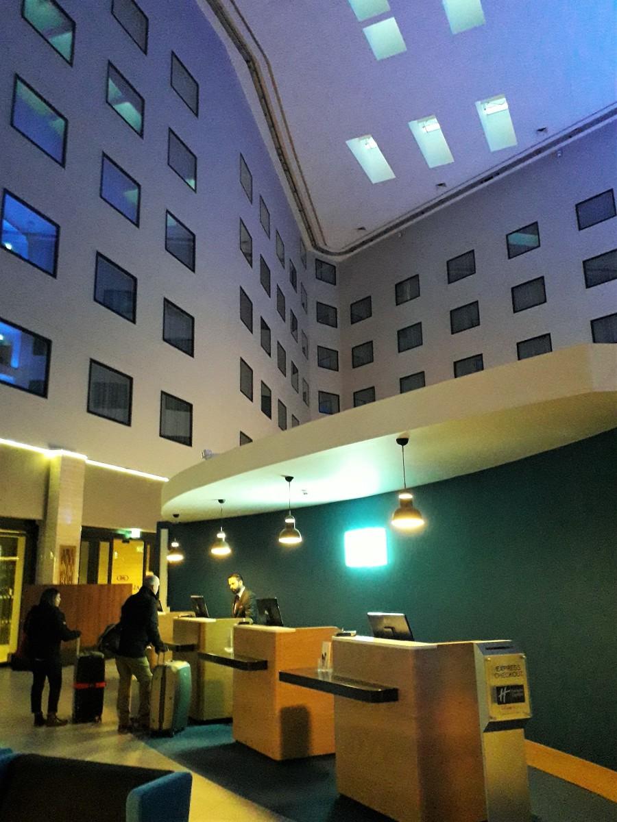 Holiday Inn Express Heathrow Terminal 4 check-in.