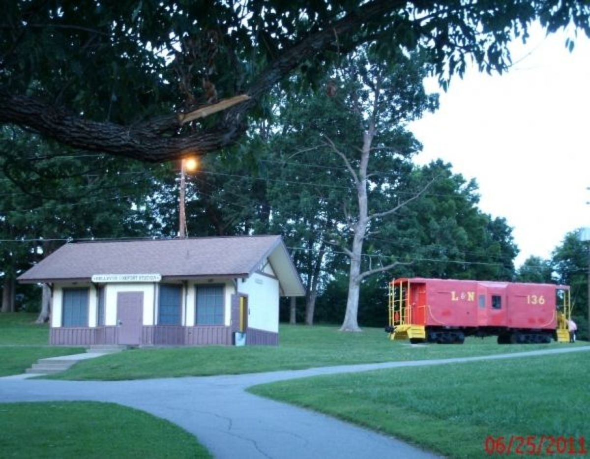 The caboose and Comfort Station