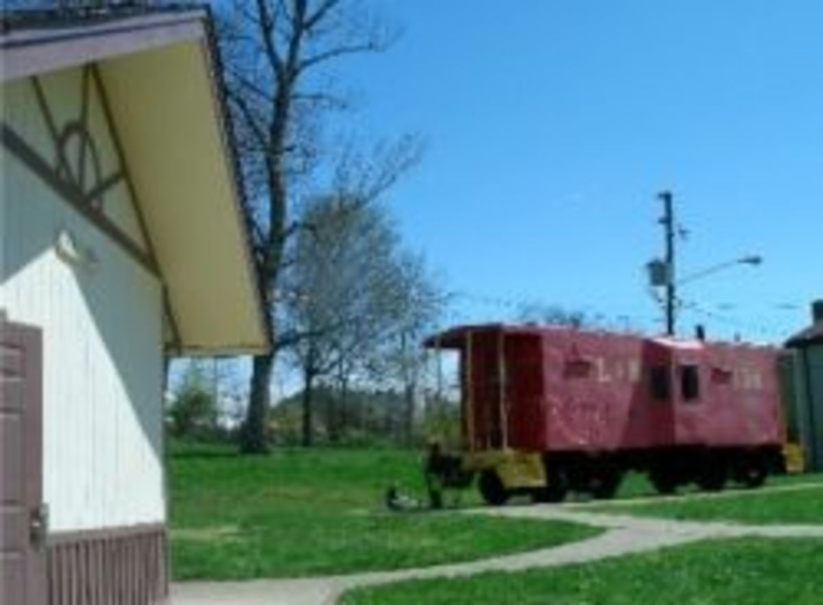 Another view of the little red caboose