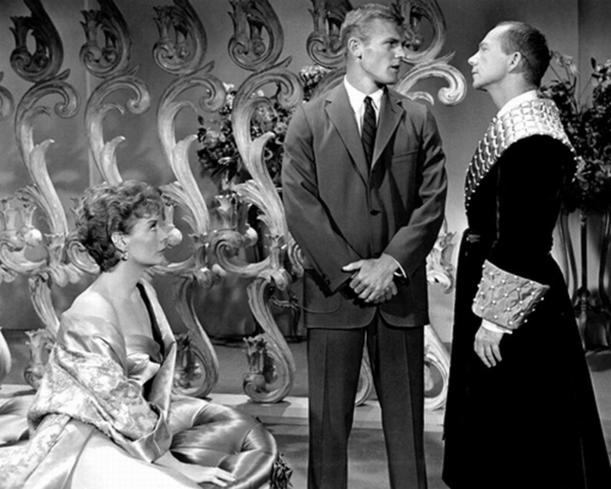 Gwen Verdon, Tab Hunter and Ray Walston in Damn Yankees (1958)