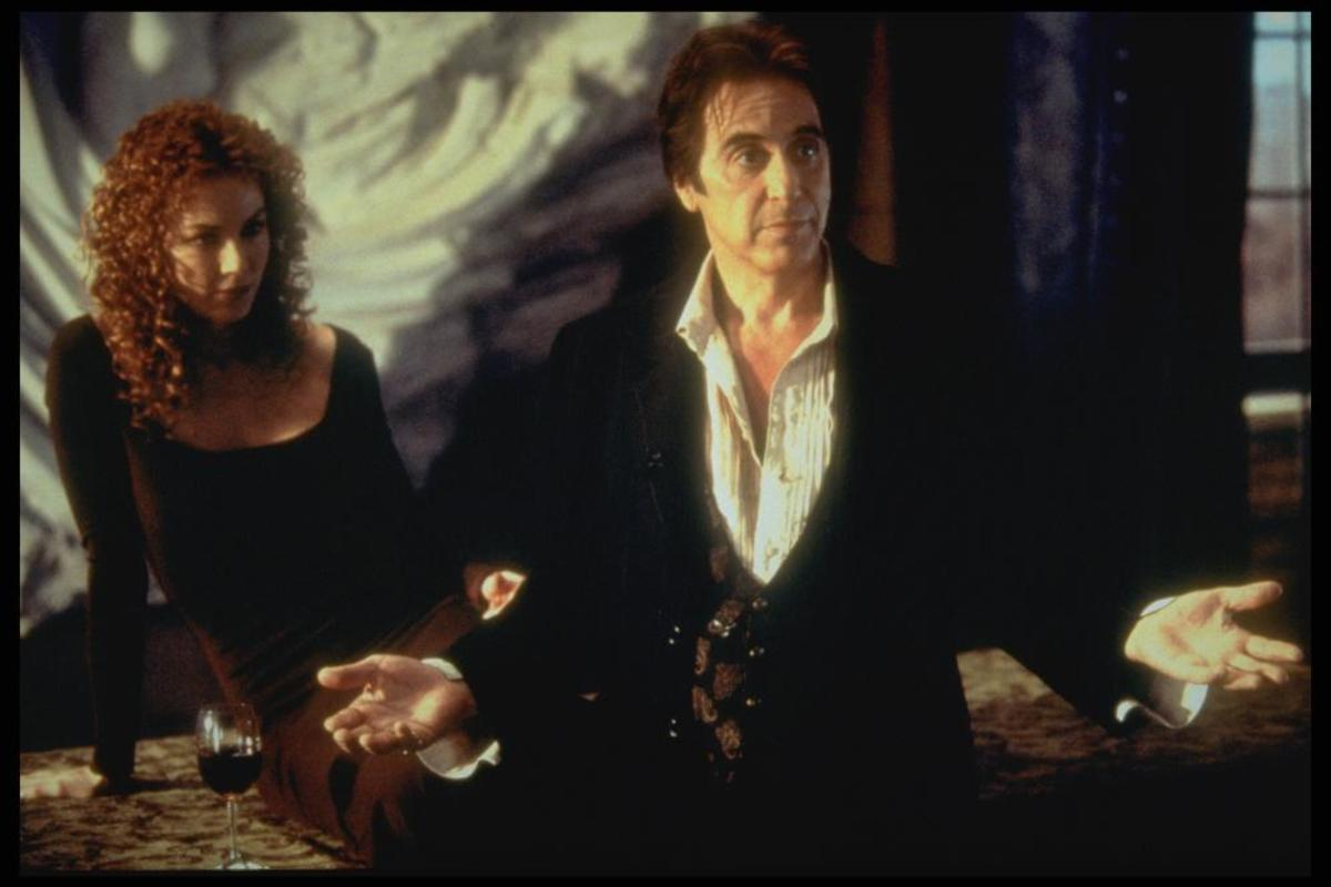 Connie Nielsen and Al Pacino in The Devil's Advocate (1997)