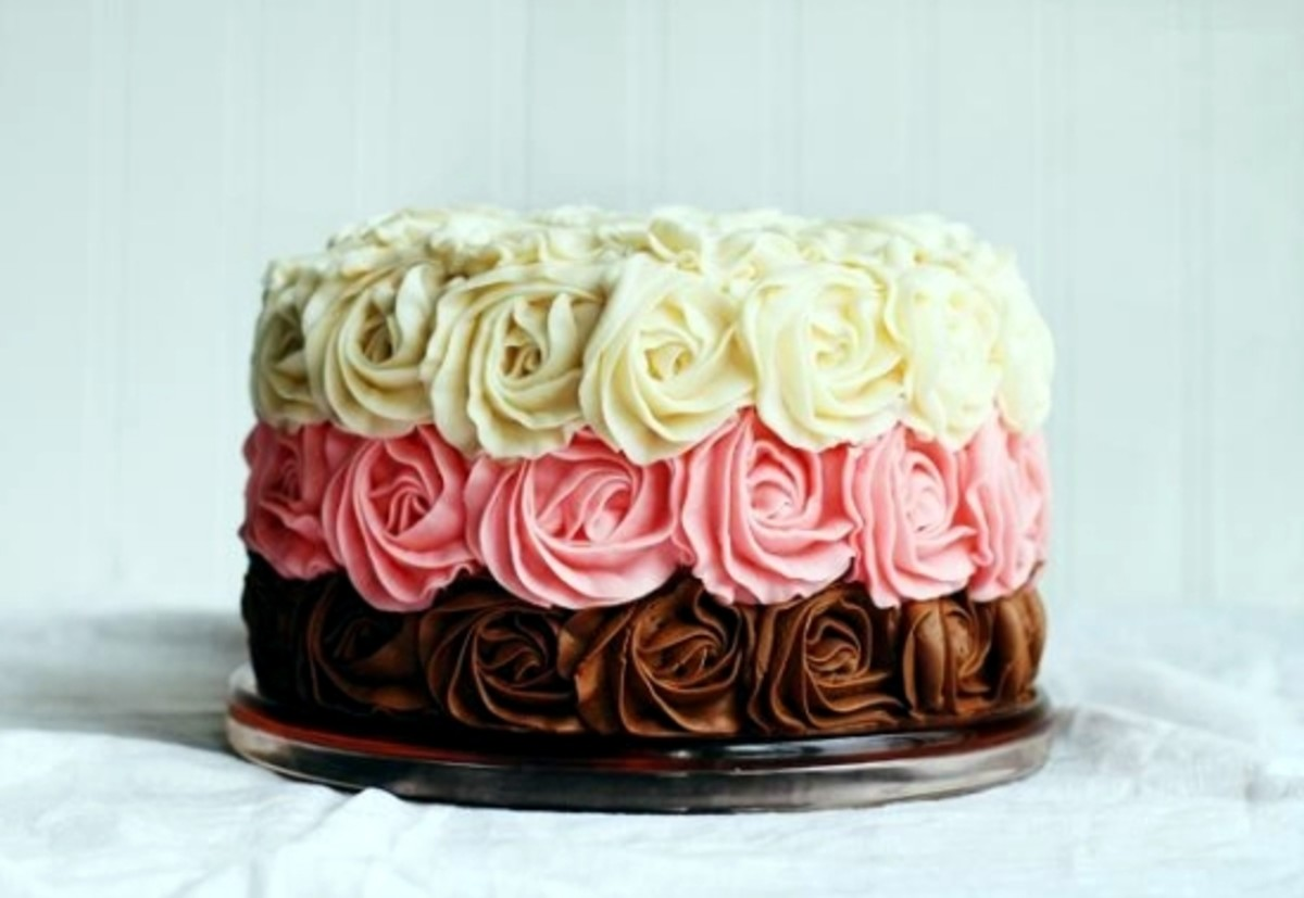 This Mother's Day cake is a delish Neapolitan.