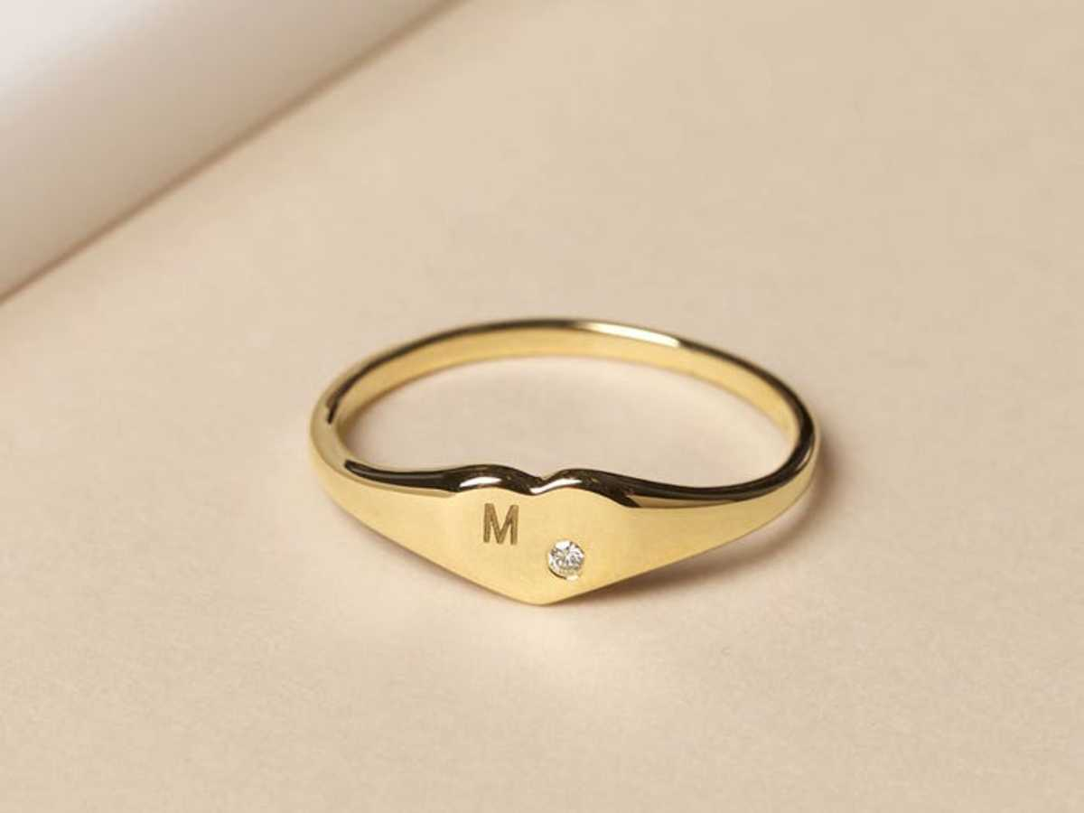 A diamond sweet heart ring for mom.