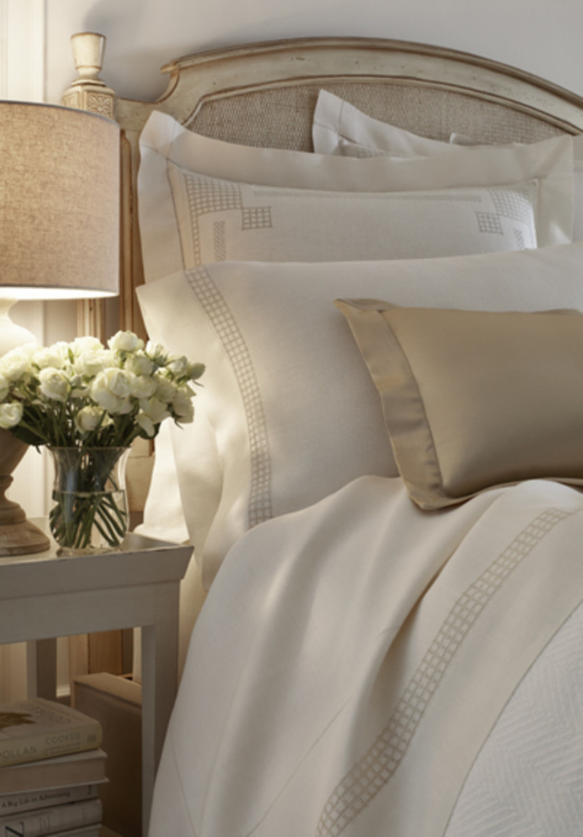 Gorgeous embroidered luxurious bedding for your mother.