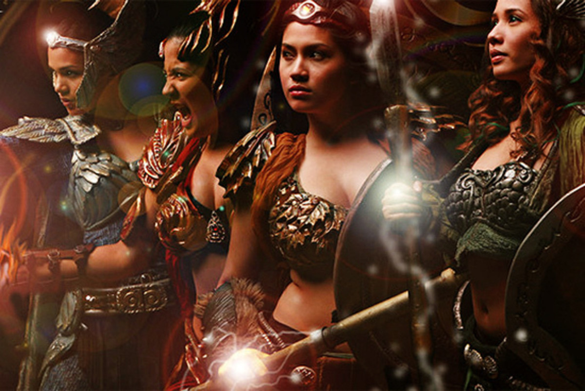 The diwatas of Encantadia TV series, representing the four classical elements.