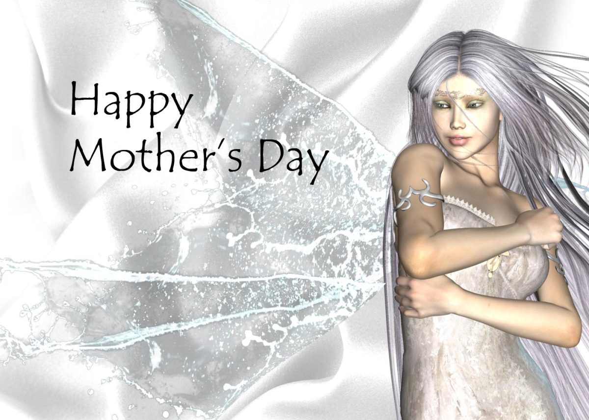 Mother's Day Card Ideas - White Angel