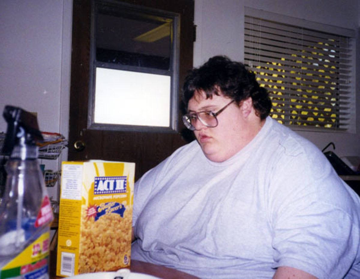 David Smith at his kitchen table at age 24 in 2002