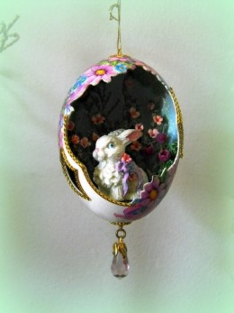 Cut out, decoupage and gold trim