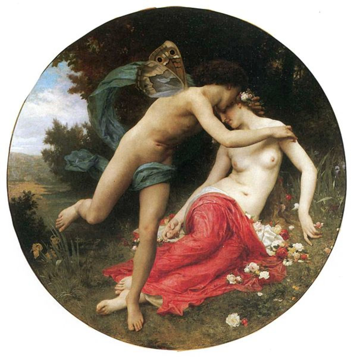 Zephyrus and Flora - William-Adolphe Bouguereau (1825–1905) - PD-art-100