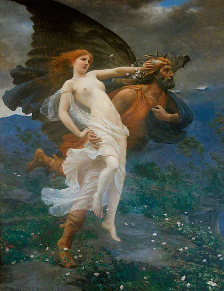 Boreas and Oreithyia - Charles William Mitchell (1854–1903) - PD-art-100