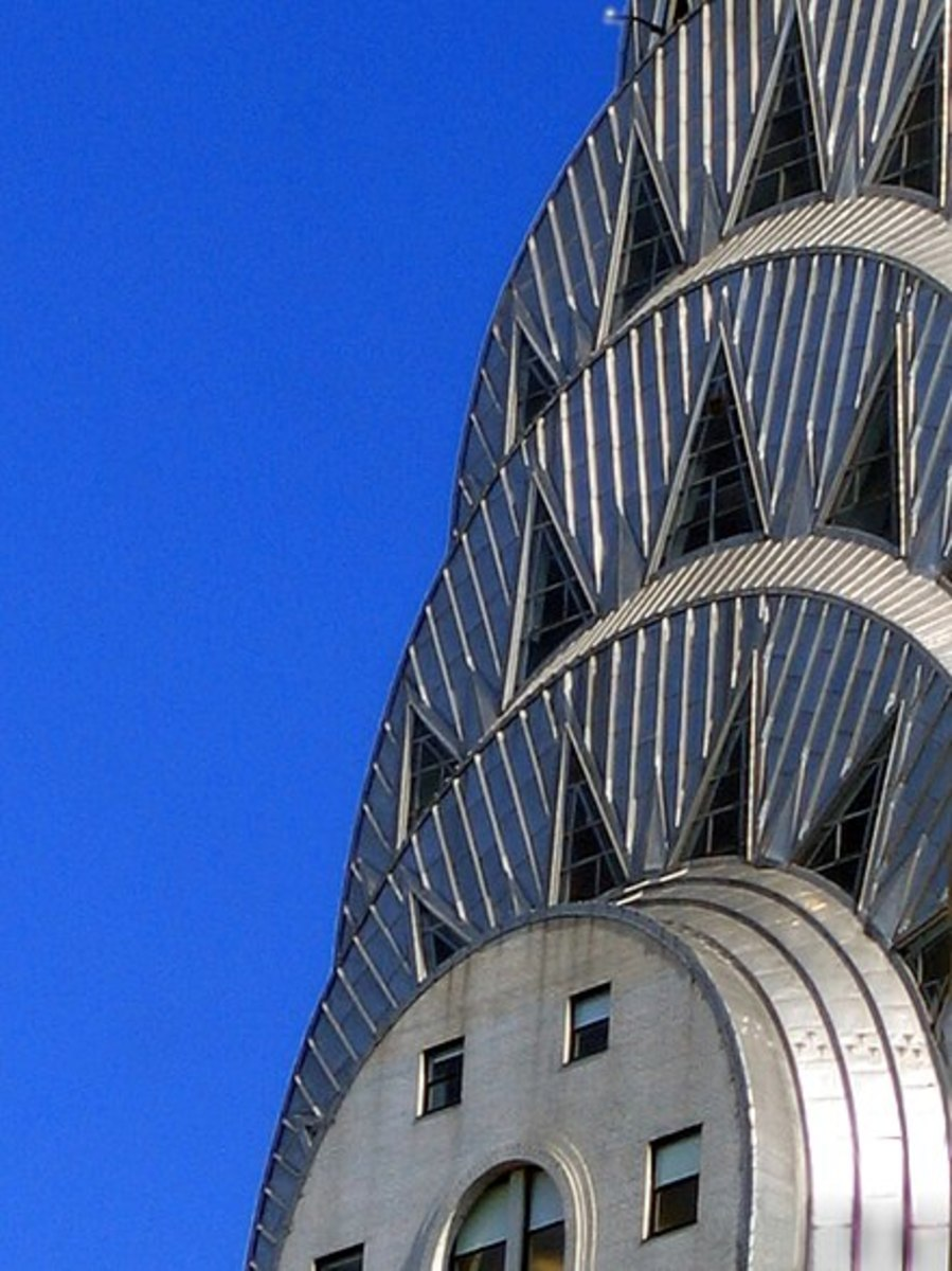Sheets of Nirosta stainless steel cover the Chrysler Building
