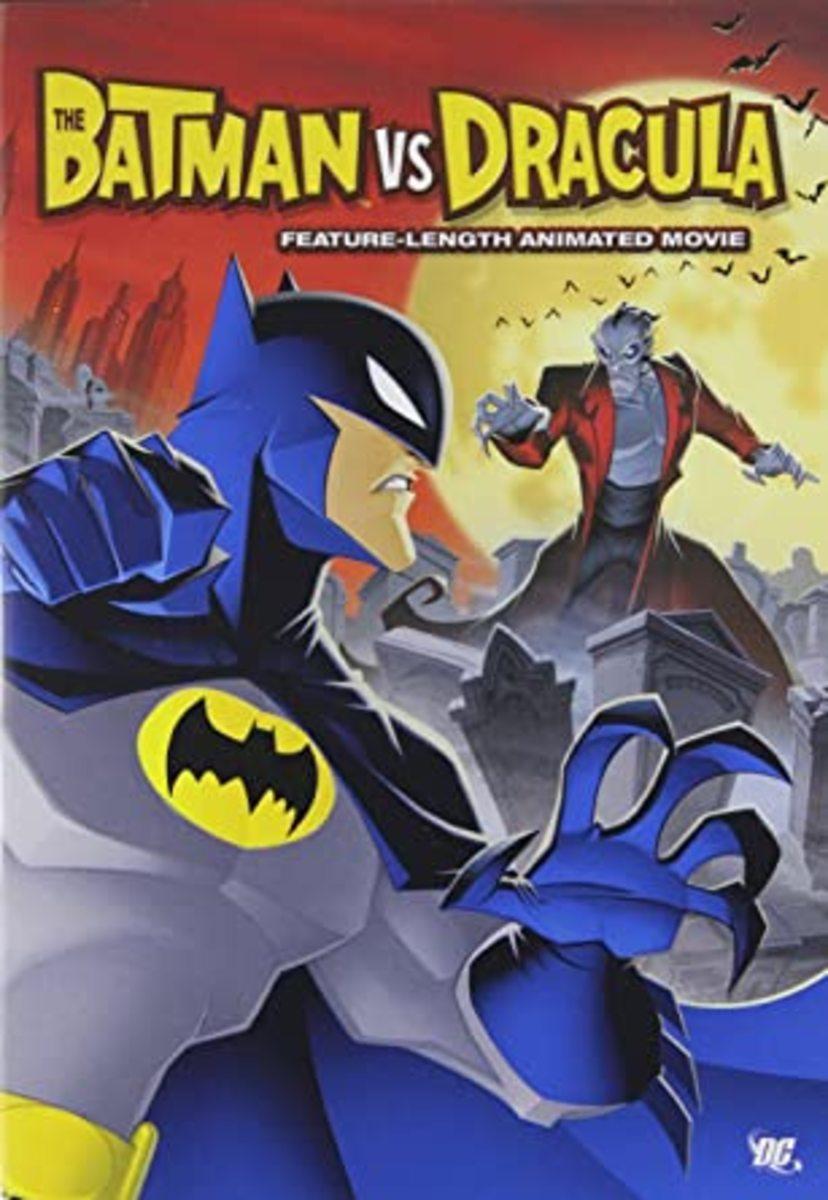"""The Batman VS. Dracula"" official DVD cover."