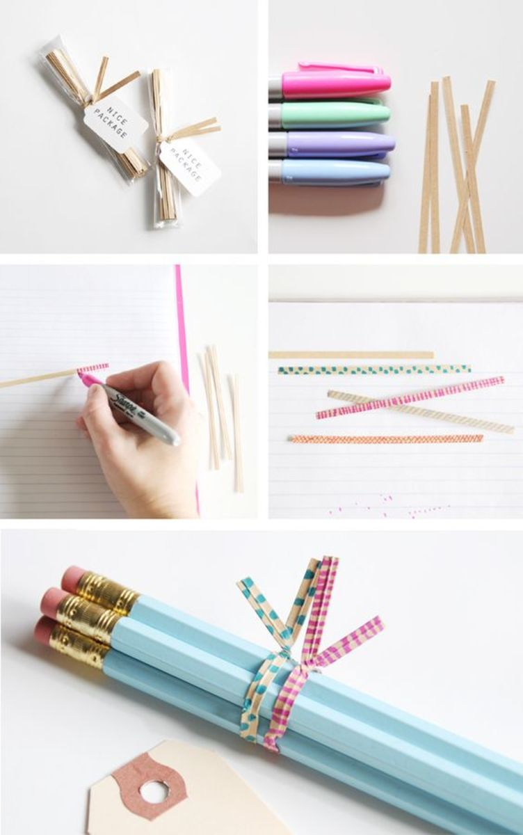 Recycle old twist ties for gift packaging