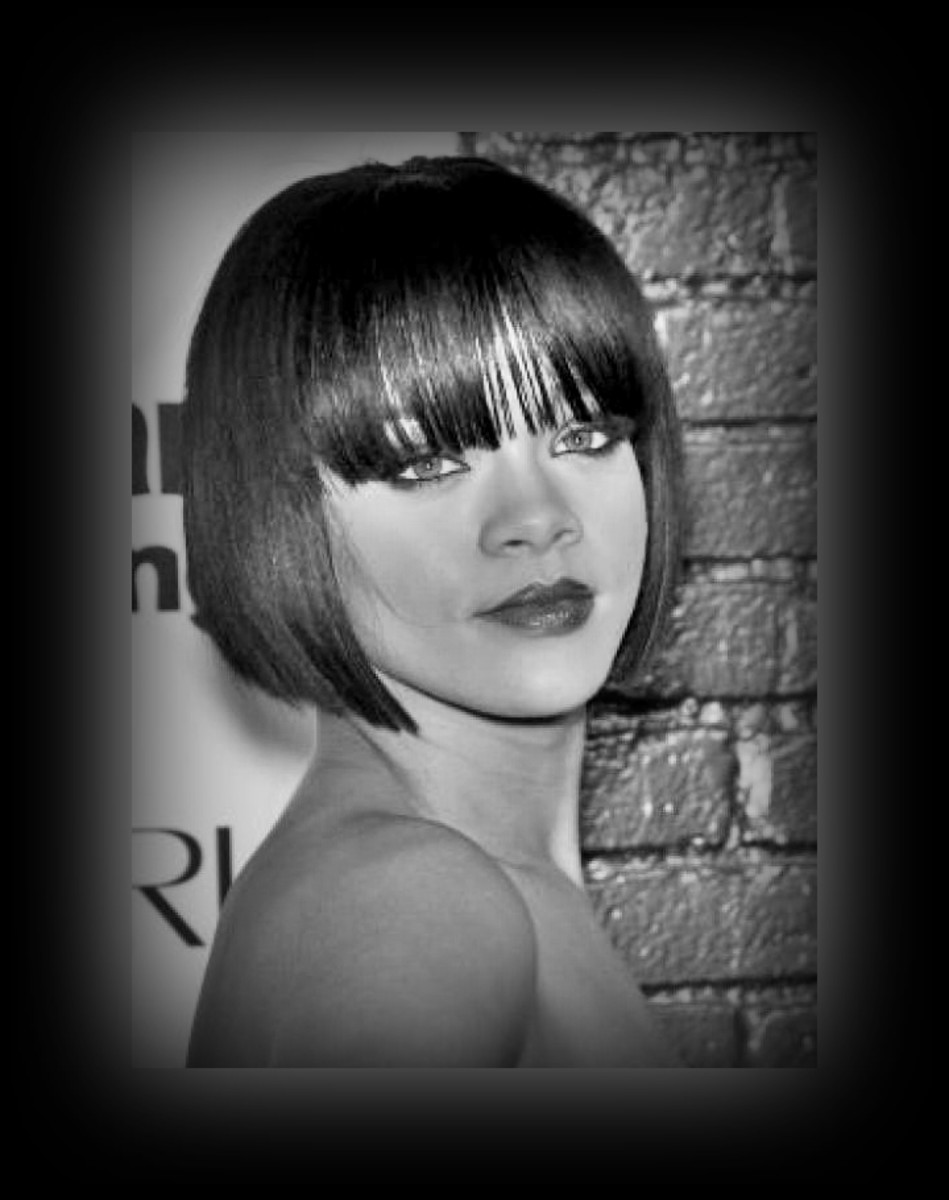 Rihanna - 2013 Best Celebrity Short Hairstyles Hair Cuts Trends