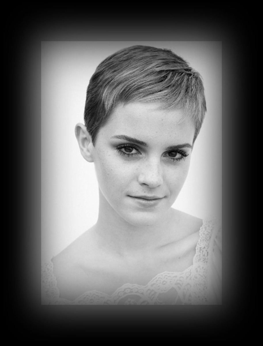 Emma Watson - 2013 Best Celebrity Short Hairstyles Hair Cuts Trends