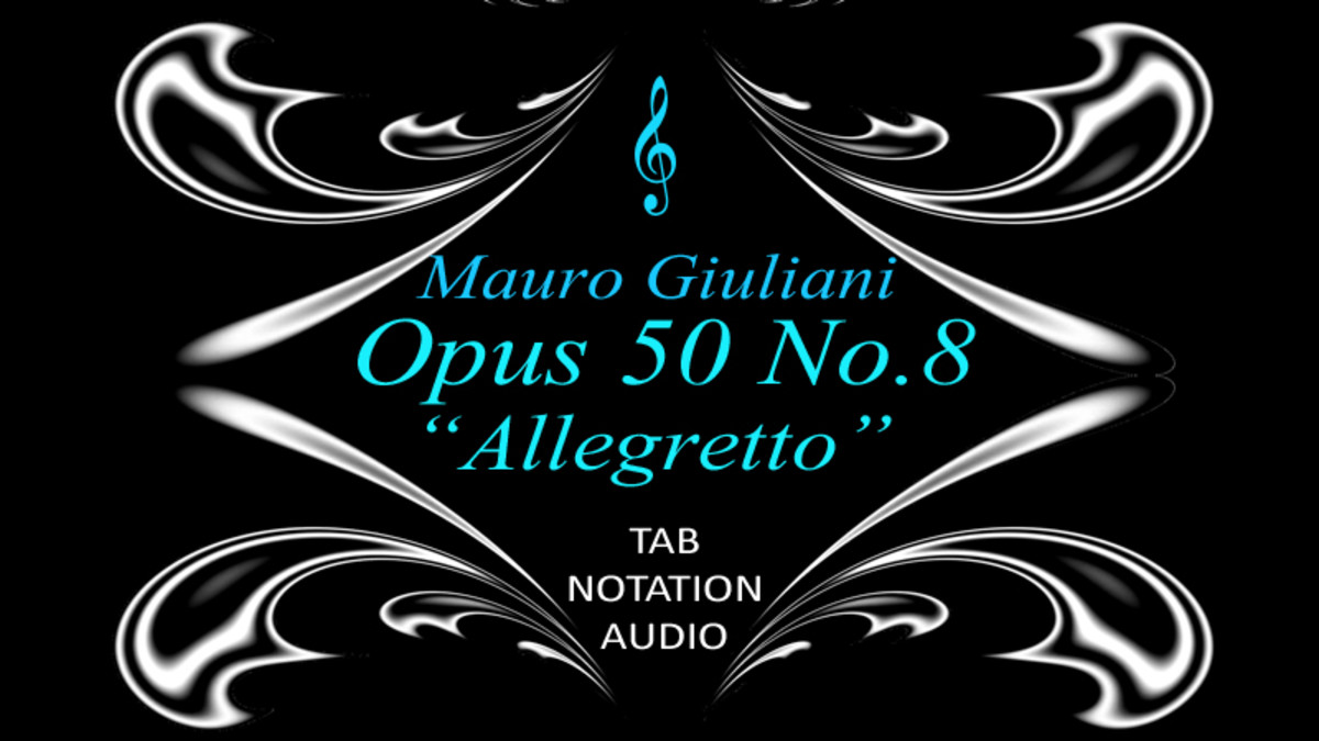 "Giuliani: Opus 50 No.8 ""Allegretto"" in Guitar Tab and Standard Notation"