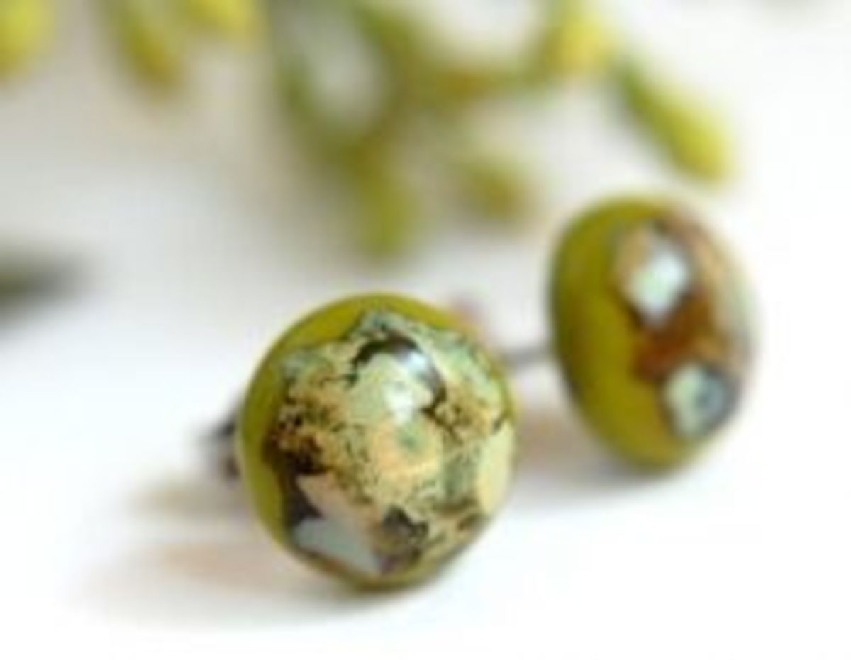 Recycled Glass Earring Tutorial