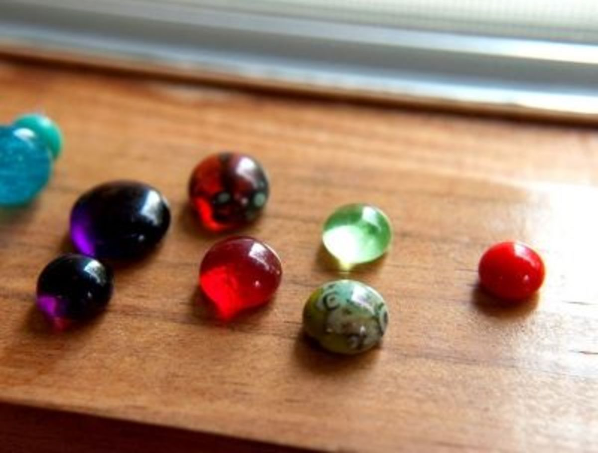 Finished Recycled Glass Cabochons