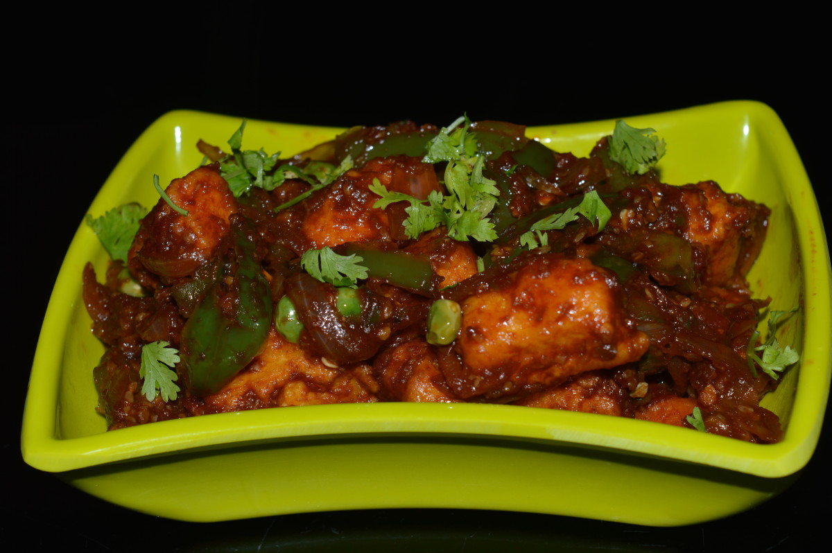 Restaurant-style chili paneer made at home