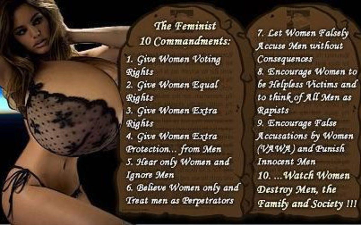 THE FEMINISTS TEN COMMANDMENTS