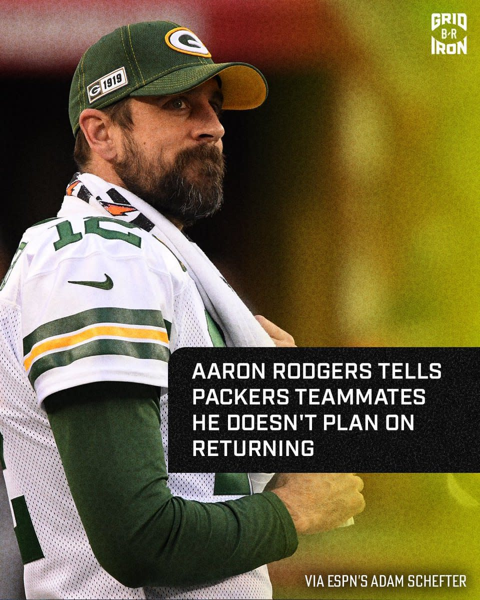 Adam Schefter reported that Aaron Rodgers is unhappy with GB and wants to leave last week.