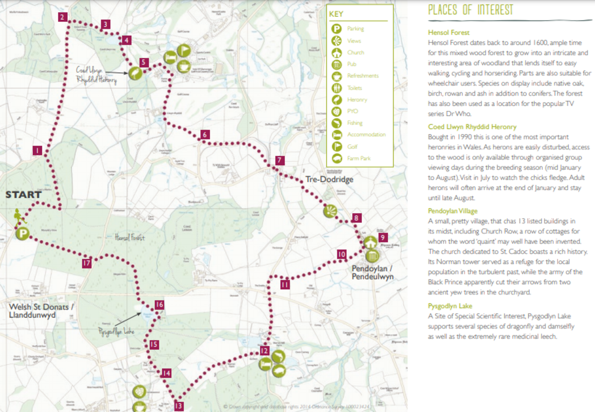 Vale Trail 8 Map