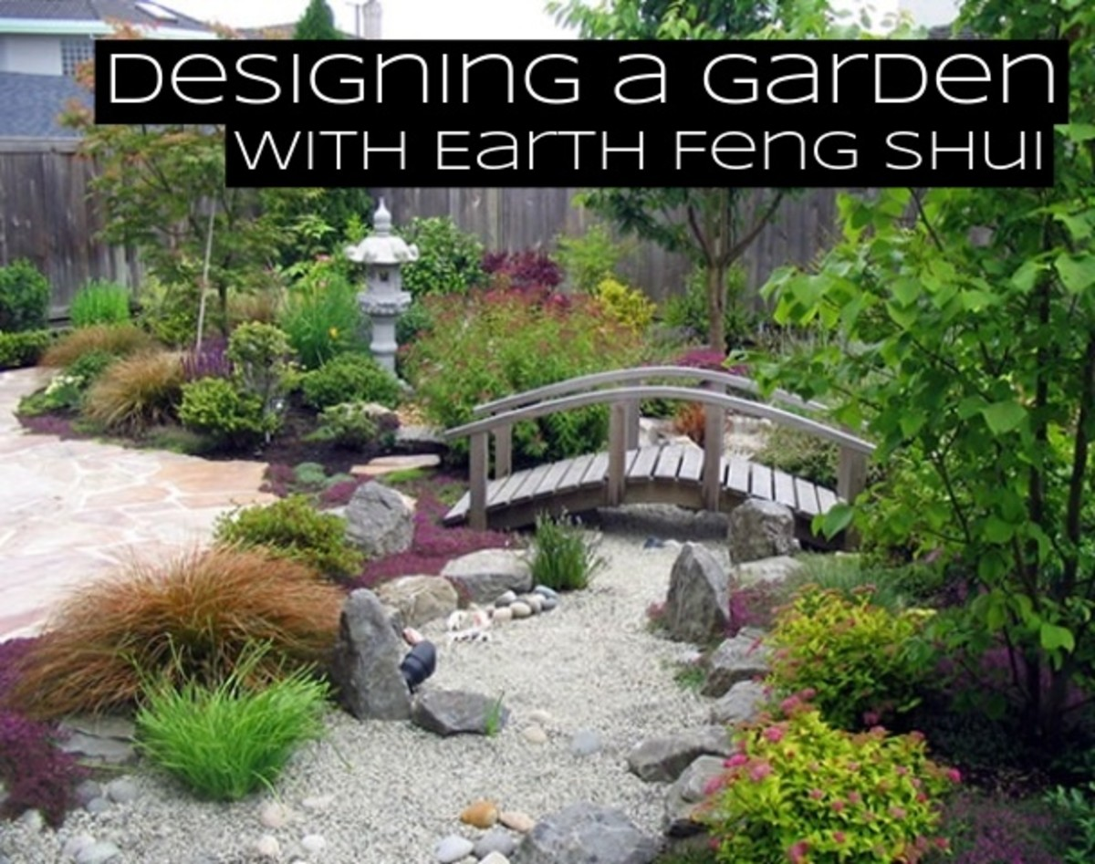 A garden with earth feng shui elements will rely on rocks, pebbles, stones, and gravel. It will have muted earth tones, and lots of yellows and browns.