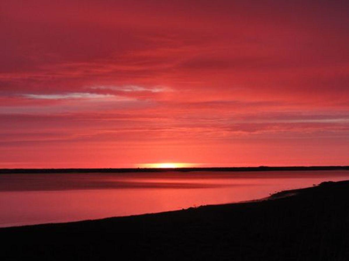 Shepherds take warning. Red sky in the morning.