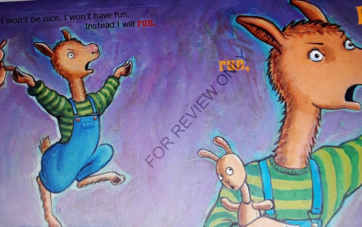 Llama Llama thinks that running away before the babysitter arrives is a good idea