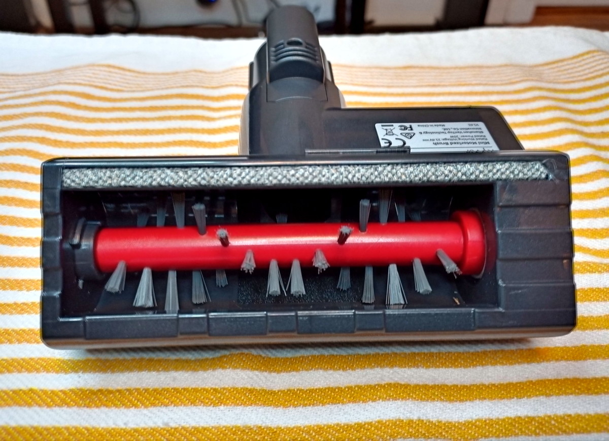 Powered upholstery brush