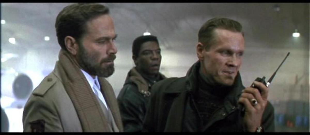 Sadler (right) is an effective villain but not especially memorable...