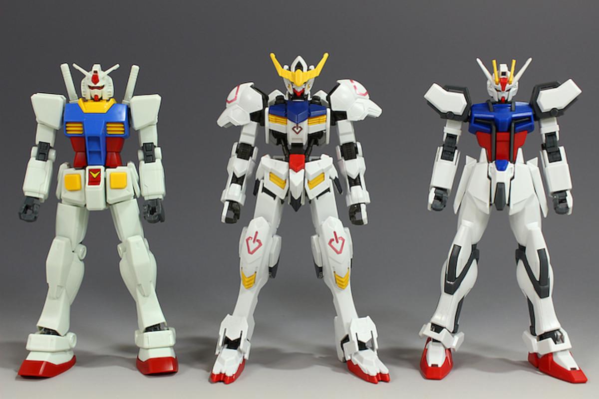 A selection of HG Gundam. Photo rom GUNJAP.