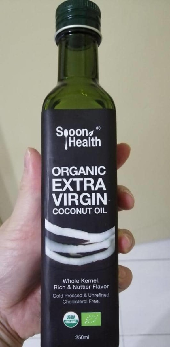 Extra Virgin Coconut Oil. This brand is from Vietnam and has a deep nutty flavour