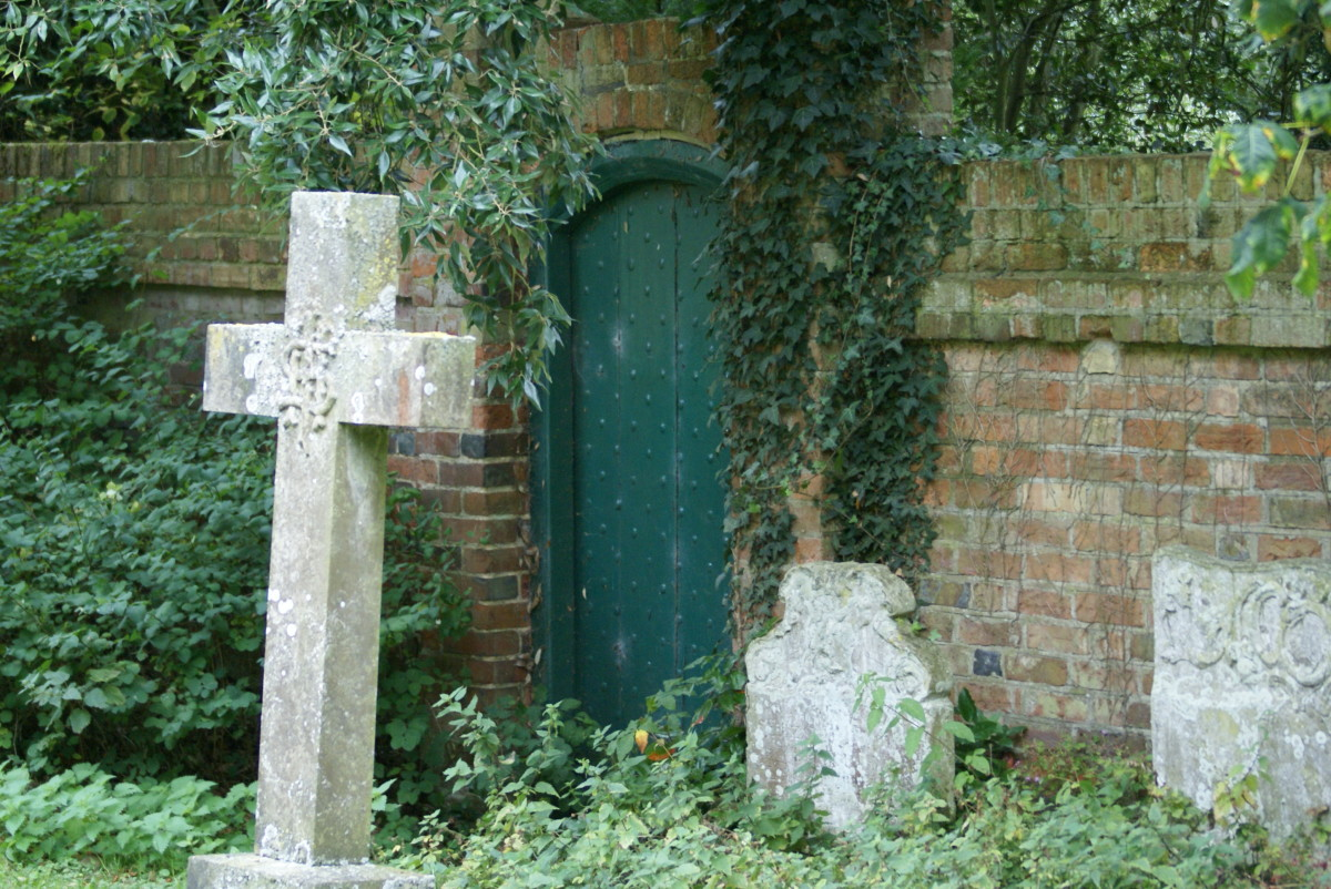 A secret doorway in the churchyard