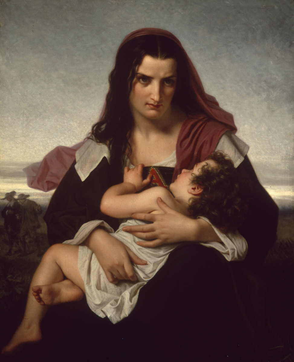 Scarlet Letter, Hugues Merle [Public domain or Public domain], via Wikimedia Commons