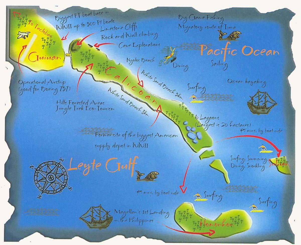 Guiuan to Calicoan Island