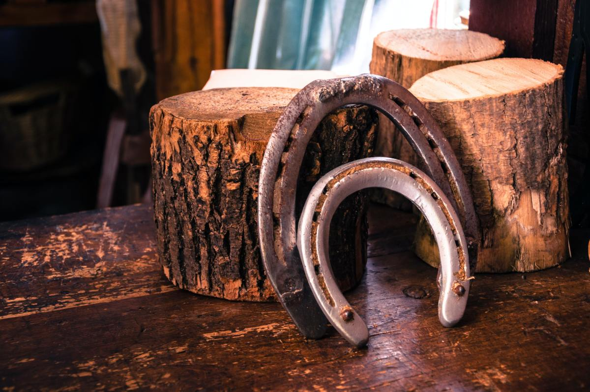 The horseshoe is a common symbol of good luck.