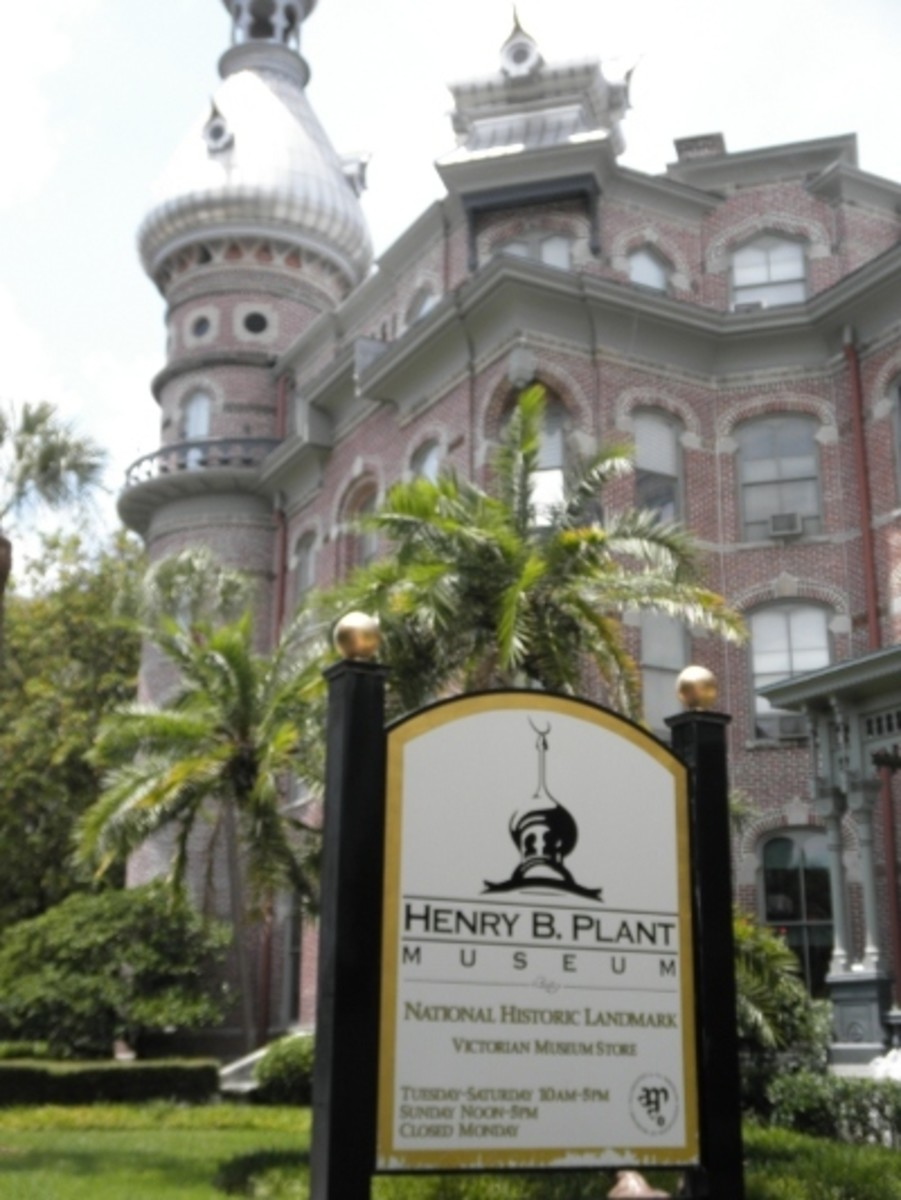 The Henry B. Plant Museum at the University of Tampa. The former hotel is a distinctive and attractive building. The modern museum focuses on showing how the social and economic lived in Florida in the early part of the twentieth century.