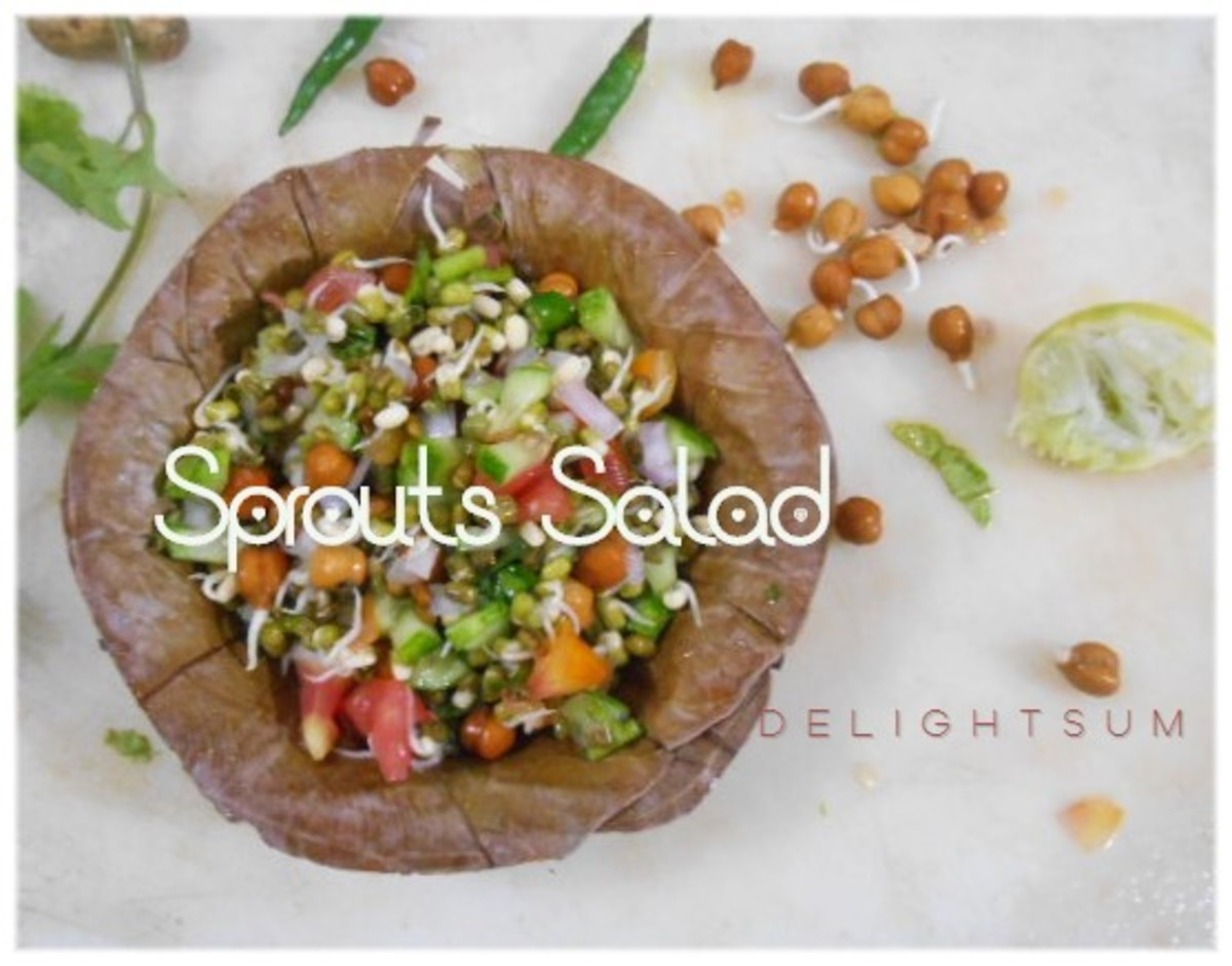 Mixed Sprouts Salad- a Savoury Indian Snack