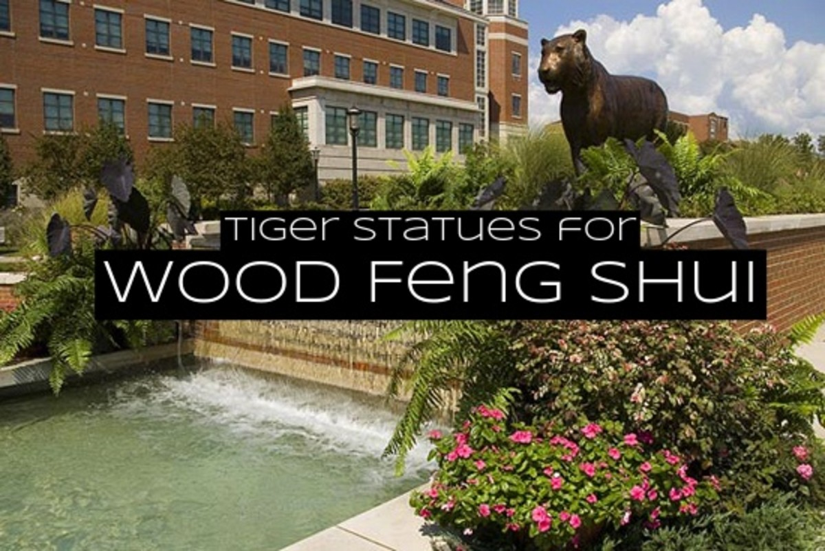 Add statues of tigers and rabbits into a garden for wood feng shui. Tigers and rabbits are considered the guardians of spring.