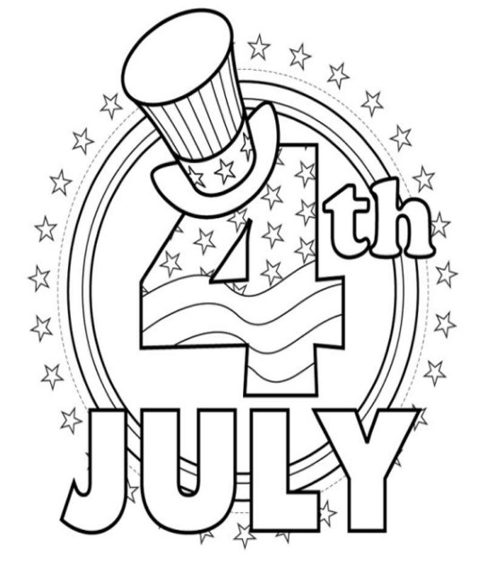 4th-of-July Fireworks Kids Coloring Pages and Colouring Pictures to Print - Promo Poster
