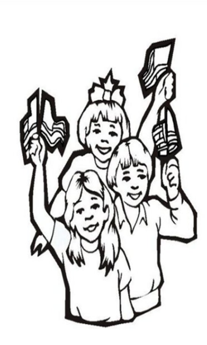 4th-of-July Fireworks Kids Coloring Pages and Colouring Pictures to Print - Proud Family