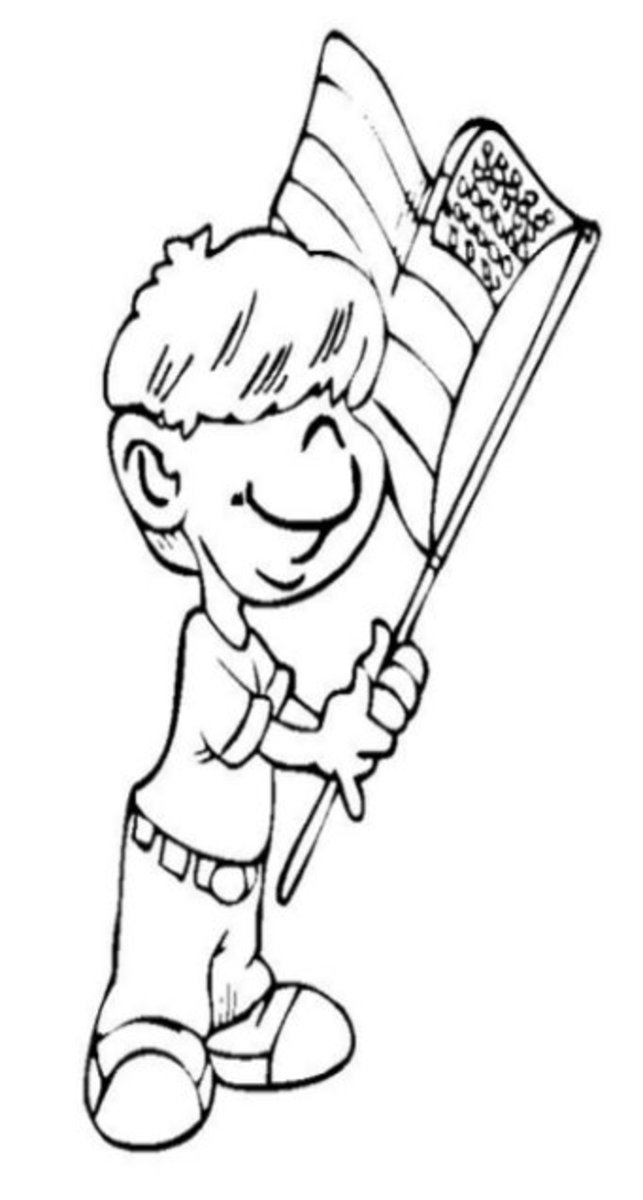 4th-of-July Fireworks Kids Coloring Pages and Colouring Pictures to Print - Proud Dad