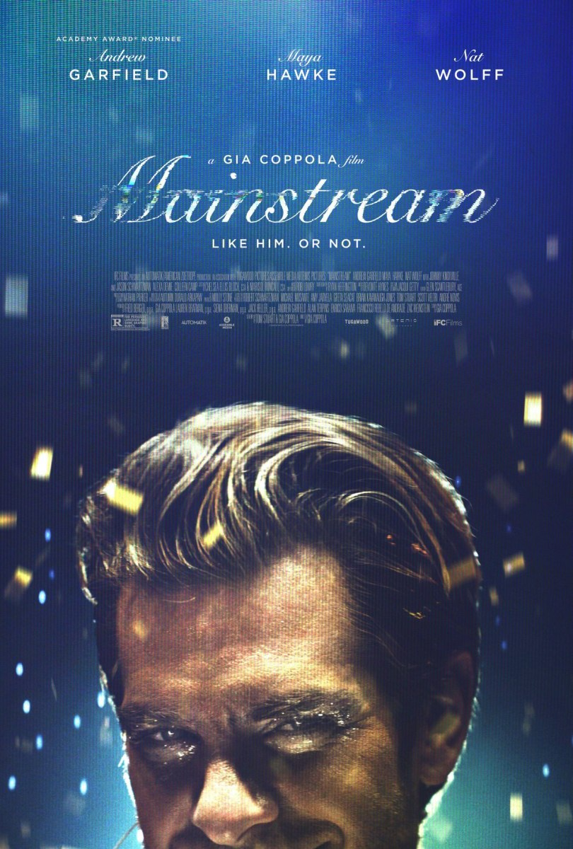 """The official theatrical poster for, """"Mainstream."""""""
